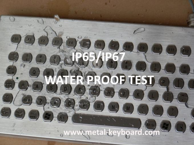 Rugged Vandal resistant metal keyboard with trackball , PS / 2 connector