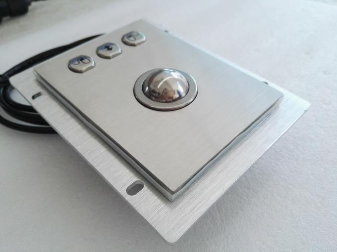 IP65 Rated Computer Industrial Trackball Mouse , Stainless Steel Trackball Pointing Device