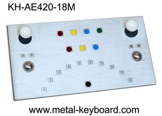 China IP65 Metal Ruggedized Industrial Kiosk Keyboard with Tow Trackballs supplier