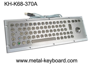 China Vandal Resistant Industrial Computer Keyboard with trackball , water resistant keyboard Metal supplier