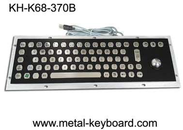 China IP65 Black Metal Computer Industrial Keyboard with Stainless steel Trackball supplier
