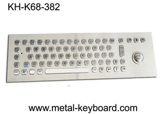 China Kiosk Self - Service Terminal Metallic Industrial Keyboard with Trackball , USB supplier