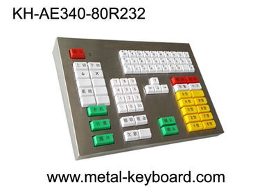 China 80 Keys Mechanical Keyboard With Metal Panel For Transportation Area supplier