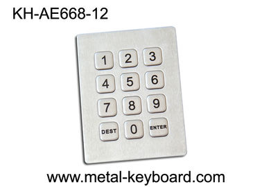 China 3x4 Matrix 12 Keys Kiosk Keypad / Rugged Stainless Steel Access Keypad supplier