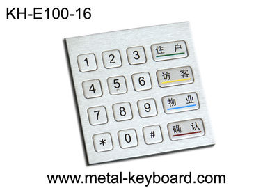 Industrial Rugged Metal Entry Number Keypads 4 x 4 Matrix for Access Kiosk