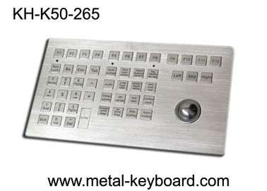 China Customized Panel Mount Keyboards in Metal , Marine Keyboard with Track ball Metal supplier