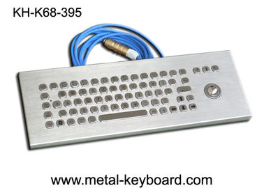 China Desktop Stainless steel Ruggedized Keyboard with Laser Trackball supplier