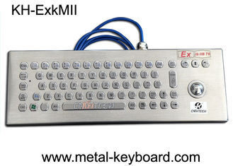 EX ibIIB T6 Rugged Keyboard Stainless Steel Material With Trackball Mouse
