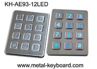 China Water - Proof LED Backlit Metal Keypad 3x4 for Access Control System factory