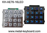 China Illuminated Indoor Access Control Metal Keypad with 16 Back - light Keys factory