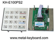 China Anti - vandal Stainless steel panel mount Keypad , Metal Digital keypad factory