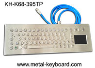 China 67 Keys Stainless Steel Ruggedized Keyboard with Touchpad Mouse factory