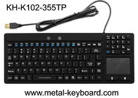 China Waterproof USB Interface Industrial PC Keyboard 108 Keys No Noise With Touchpad factory