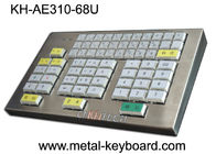 Mechanical Ruggedized Metal Kiosk Keyboard Resin Key For Transportation Area