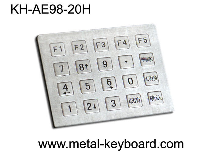 Industrial Stainless steel Kiosk Keypad , Water proof , Dust proof Keyboard