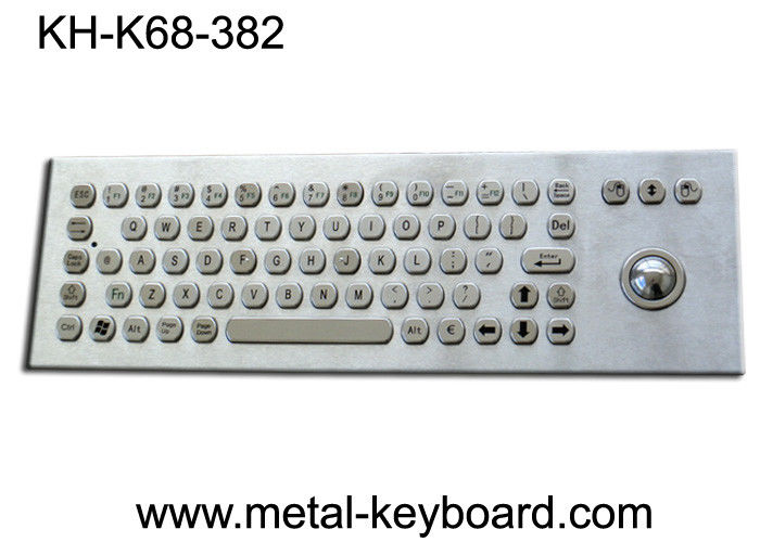 67 Keys Ruggedized Keyboard / Metal Computer Keyboard with Laser Trackball