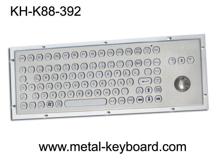 Rugged Metal Computer Keyboard with 38 trackball for