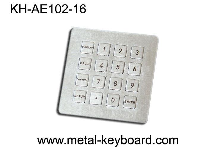Vandal resistant Industrial Metal Numeric Keypad 4x4 16 keys design