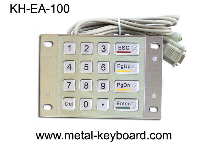 16 Keys Metal Panel Mount Numeric Keypads for Access Entry Kiosk