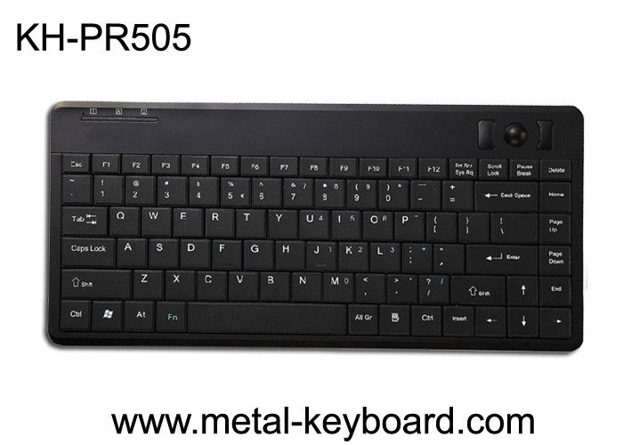 81 Keys Plastic Industrial Computer Keyboard with mini Trackball