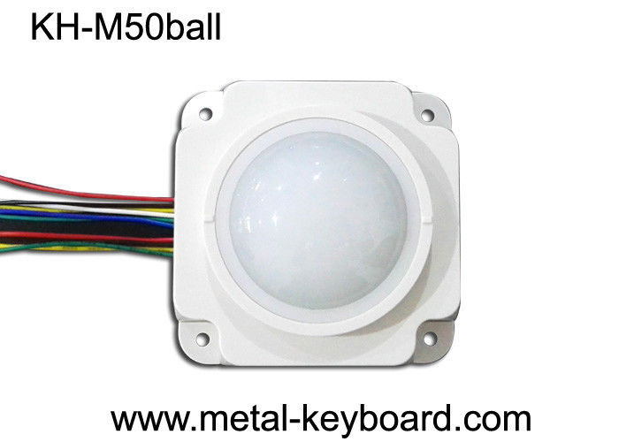 50MM Mechanical White Resin rugged trackball Mouse Module for Medical