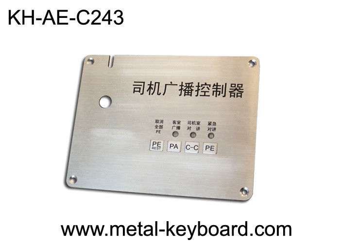 Customizable Access Control stainless steel keypad with Top Panel Mounting