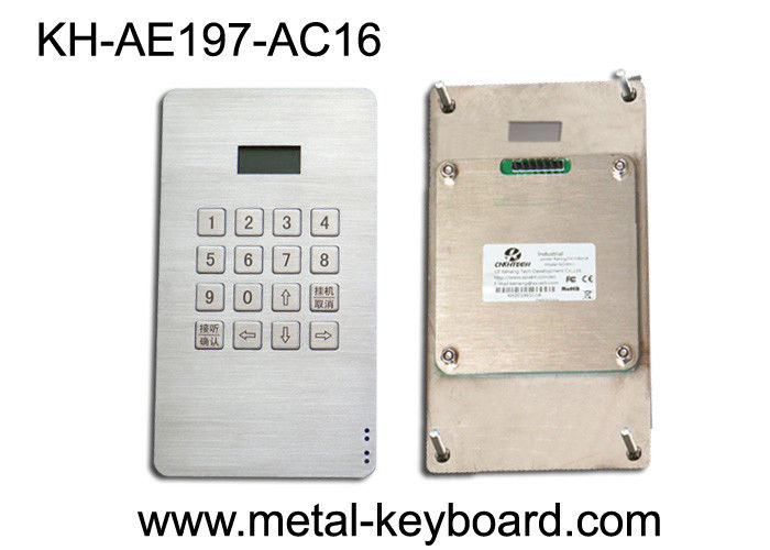 Dustproof Access Entry System stainless steel keypad with 16 Keys