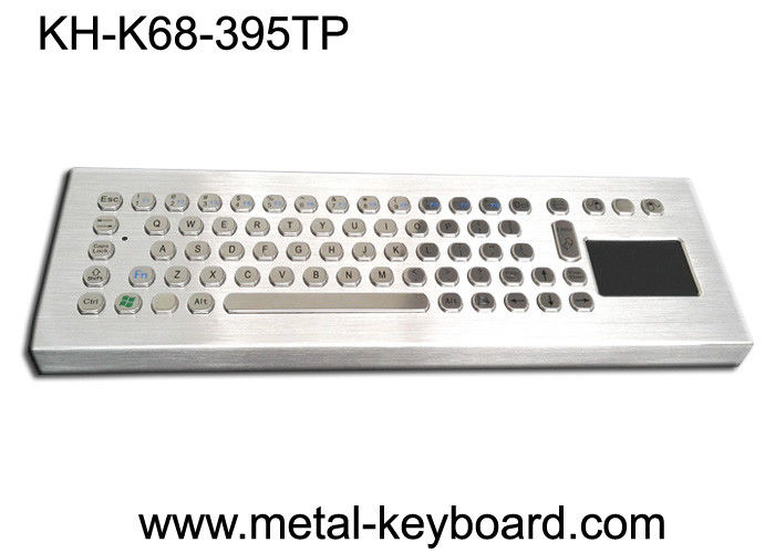 Desktop Metal IP65 Rate waterproof keyboard with touchpad 395x135 mm Front panel