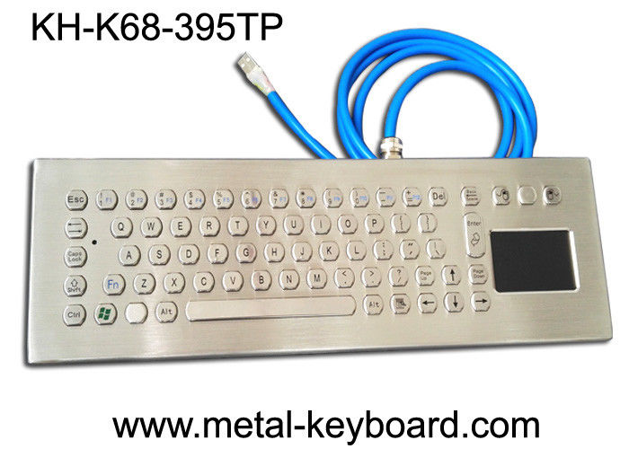 67 Keys Stainless Steel Ruggedized Keyboard with Touchpad Mouse