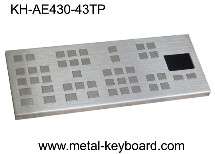 Vandal Resistant Industrial Keyboard with Touchpad / Large keys Panel Mount Keyboard Precision