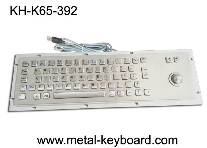 Ruggedized Industrial Metal SS Keyboard with Trackball For Accuate Pointing Device
