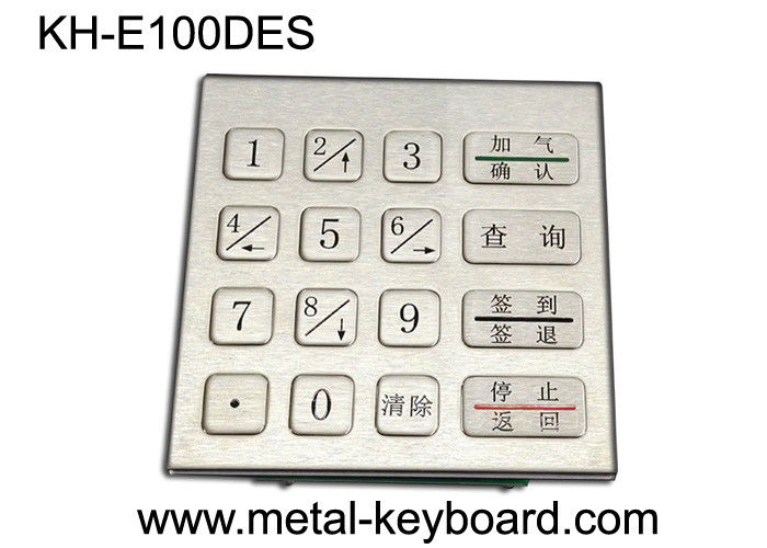 Rugged Stainless Steel Security Keypad Entry with 16 Keys In 4x4 Matrix