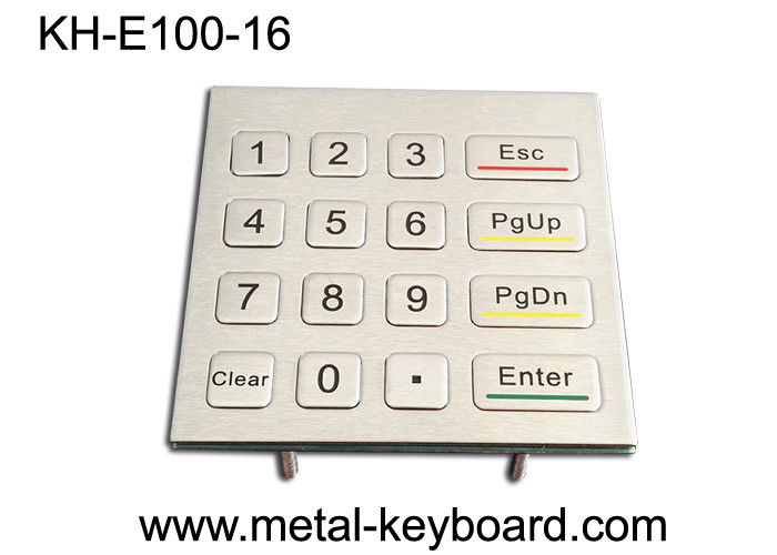 Number Anti Vandal Metal Keypad / Kiosk Panel Mount Keypad Outdoor Use