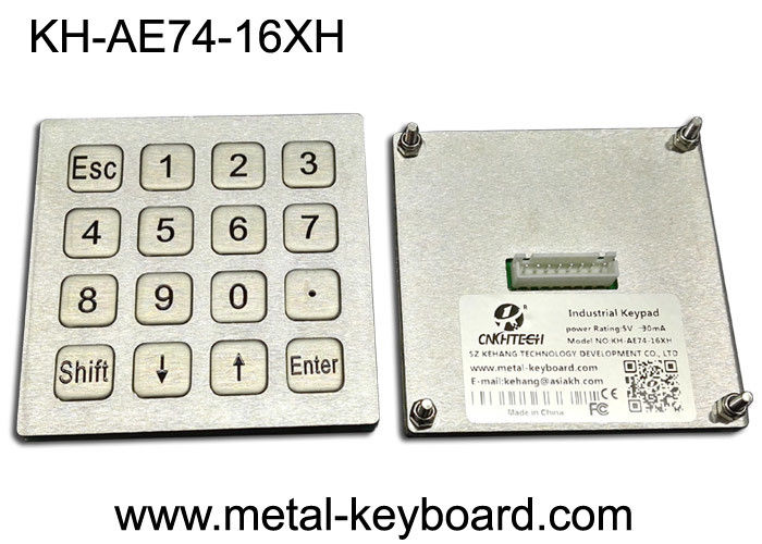 4x4 Layout Waterproof Industrial PC Keyboard Matrix / USB Port For