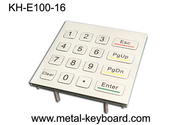16 Keys 4X4 Matrix Metal Keypad Laser Engraved Characters For