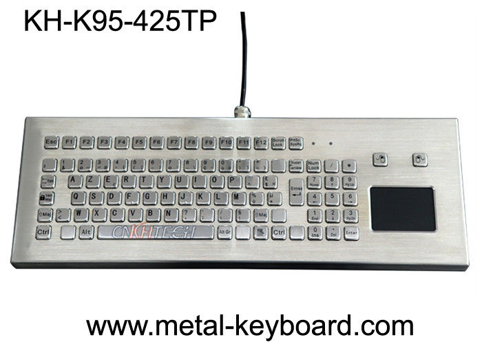 USB/PS2 Interface Metal Computer Keyboard Stainless Steel Kiosk