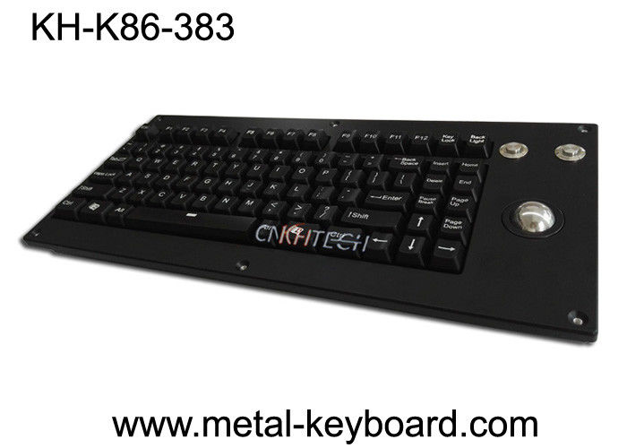 Panel Mount Backlight Cherry Mechanical Keyboard With Metal Trackball Mouse