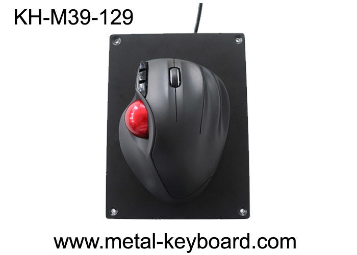 Resin + Plastic + Metal Material Industrial Trackball Mouse with 39MM Resin Trackball