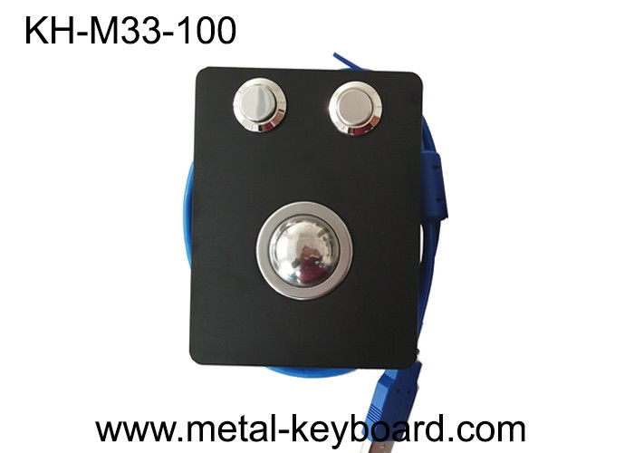 Panel Mount USB IP65 Stainless Steel Trackball Mouse