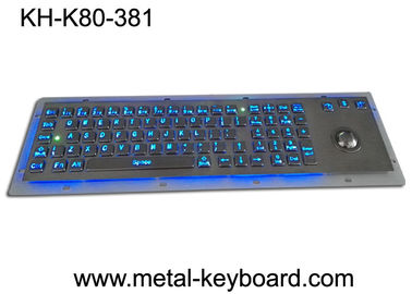 China Rugged Backlit Metal Keyboard with Ergonomics Design Trackbal , USB interface factory