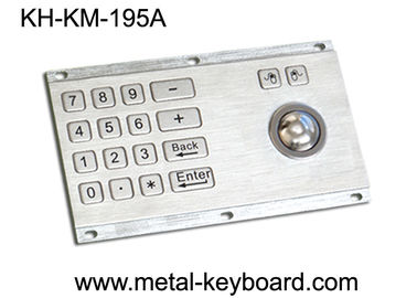 China Metallic Anti - vandal Kiosk Digital Keyboard with Integrated Trackball IP65 Rate factory
