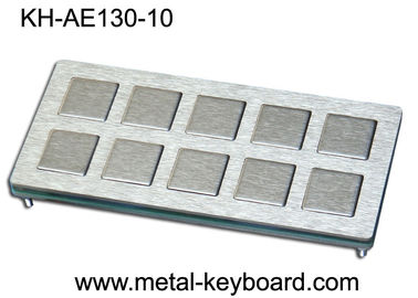 China 10 keys Custom Industrial Metal Keyboard Industrial Kiosk Keyboard factory