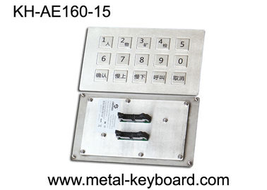 China Panel Mount Industrial Metal Keyboard Stainless steel for Mine Machine factory