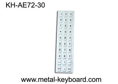 30 Keys IP65 Anti - Vandal Kiosk Keyboard for Industrial Mining System