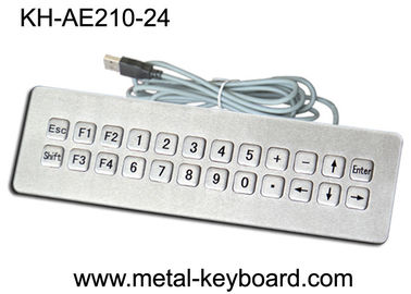 China IP65 Rated waterproof computer keyboard , water resistant keyboard 24 Keys factory
