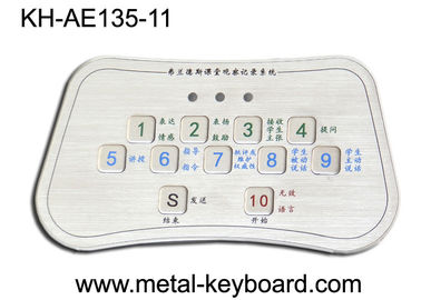 China Stainless Steel Kiosk Keyboard , Custom Metal vandal proof keypad factory