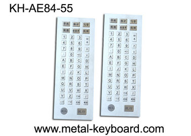 China 55 Keys Industrial Kiosk Metal Keyboard with Customized Layout Design factory