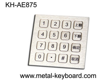 China Ruggedized 16 Keys Stainless Steel Keypad Numeric with Top panel mounting factory