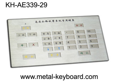 Customized Rugged Industrial Metal Keyboard for Charging Kiosk with 29 Keys