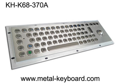 China IP65 Explosion Proof Keyboard , Metal Industrial Keyboard With Trackball factory
